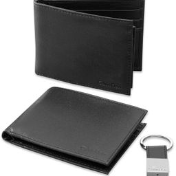 Leather Bookfold Wallet and Key Fob Set   Macys (US)