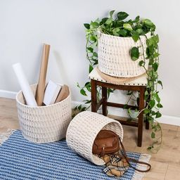 Honey-Can-Do 3pc Cozy Weave Basket White   Target