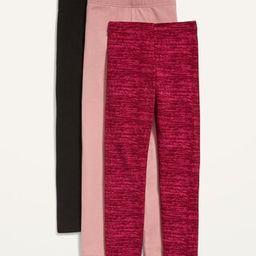 Jersey Built-In Tough Leggings 3-Pack for Girls   Old Navy (US)