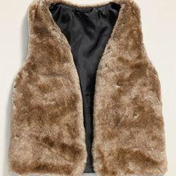 Faux-Fur Vest for Girls   Old Navy (US)