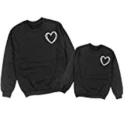 Heart Sketch Valentine's Matching Sweatshirts, Mommy and Me Sweatshirts, Matching Sweatshirts, Mommy   Amazon (US)