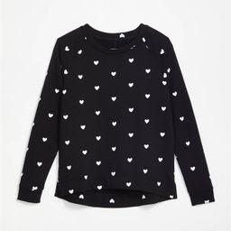 Lou & Grey Heart Terry Sweatshirt   LOFT