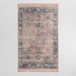 Persian Style Alma Indoor Outdoor Rug with Backing | World Market
