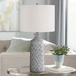 Patrick Gray and White Wash Ceramic Table Lamp   LampsPlus.com