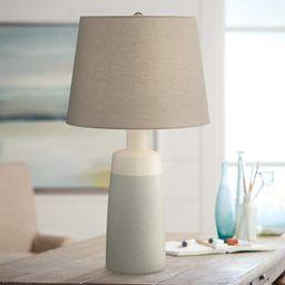 Effie Modern Farmhouse Grey Ceramic Table Lamp   LampsPlus.com