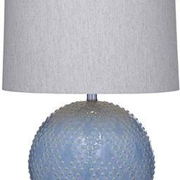 Bassett Mirror Company Kettler Table Lamp 16x17x25H Light Blue, Gray Drum Shade Model L3330T   Amazon (US)