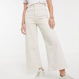 ASOS DESIGN premium wide leg jeans in bone white | ASOS (Global)