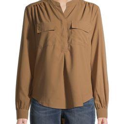 Time and Tru Women's Long Sleeve Utility Shirt   Walmart (US)