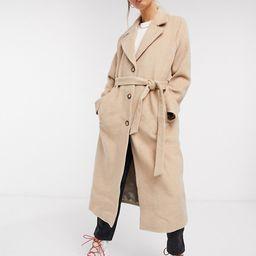 & Other Stories long belted coat in camel   ASOS (Global)