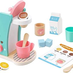 Brew & Serve Wooden Coffee Maker Set- Play Kitchen Accessories, Encourages Imaginative Play, 13 P...   Amazon (CA)
