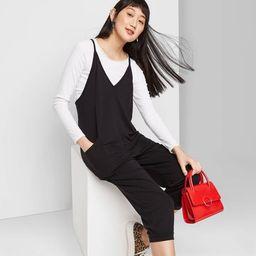 Women's Sleeveless V-Neck Knit Jumpsuit - Wild Fable™   Target