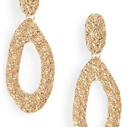 Textured Hoop Drop Earrings | Nordstrom