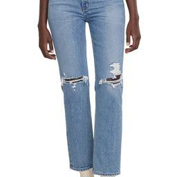 Wilder Ripped High Waist Straight Leg Jeans   Nordstrom