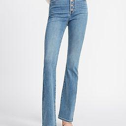 Super High Waisted Button Fly Bootcut Jeans   Express
