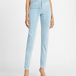 Super High Waisted Light Wash Slim Jeans   Express
