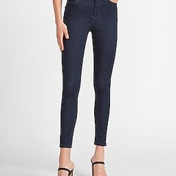 High Waisted Dark Wash Skinny Jeans   Express