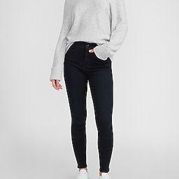 High Waisted Metallic Dark Wash Skinny Jeans   Express