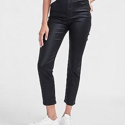 Super High Waisted Black Coated Slim Jeans   Express