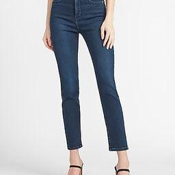 Super High Waisted Dark Wash Slim Jeans   Express