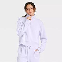 Women's All Day Fleece Quarter Zip Sweatshirt  - A New Day™   Target