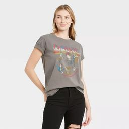 Women's David Bowie Front & Back Short Sleeve Graphic T-Shirt - Heather Gray | Target