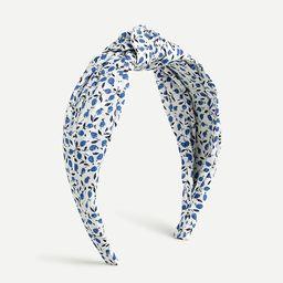 Knot headband in Liberty® print | J.Crew US