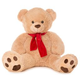 """Best Made Toys 50"""""""" Bear with Scarf Giant Plush Animal - Over 4 feet tall! 