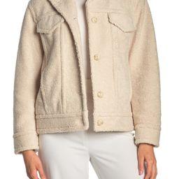 Vince   Faux Shearling Button Front Jacket   Nordstrom Rack   Nordstrom Rack
