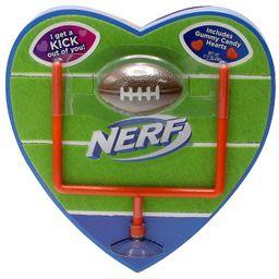 NERF Valentine's Heart Box with Football & Goalpost - 3.17oz | Target
