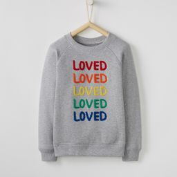 Be Loved Sweatshirt In French Terry | Hanna Andersson