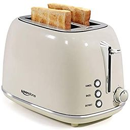 Toasters 2 Slice Retro Stainless Steel Toasters with Bagel, Cancel, Defrost Function and 6 Bread ... | Amazon (US)