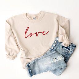 Love sweatshirt valentines day sweatshirt womens valentines | Etsy | Etsy (US)