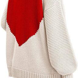 Tutorutor Womens Oversized Love Heart Pattern Print Open Front Cardigan Sweaters Casual Boho Spri... | Amazon (US)