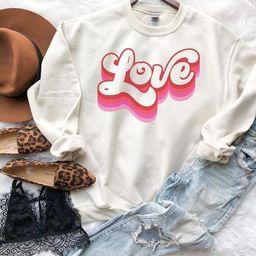 Retro Valentines Day Sweatshirt Valentines Day Sweatshirt | Etsy | Etsy (US)