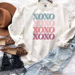 XOXO Valentines Day Sweatshirt Valentines Day Sweatshirt | Etsy | Etsy (US)