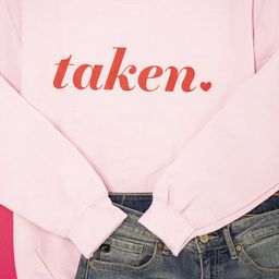 Taken Light Pink Graphic Sweatshirt | The Pink Lily Boutique