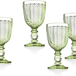 Twill White Wine Goblet Beverage Glass Cup by Godinger - Emerald Green - Set of 4   Amazon (US)