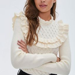 Ruffled Honeycomb Knit Sweater | Forever 21 (US)