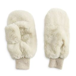 Women's LC Lauren Conrad Faux Fur Mittens | Kohl's