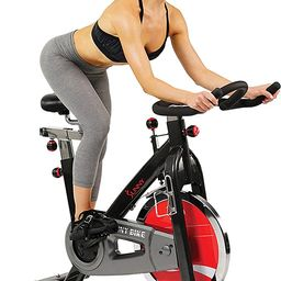 Sunny Health & Fitness Exercise Cycling Bike with Heavy 49 LB Chrome Flywheel - SF-B1002/C | Amazon (US)