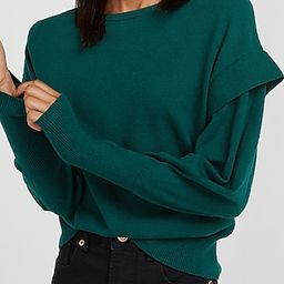Capped Sleeve Crew Neck Sweater | Express