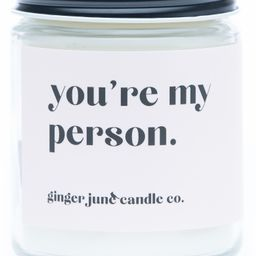 Ginger June Candle Co You're My Person Large Jar Candle | Nordstrom