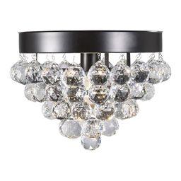 "Design House 579433 Madrid Single Light 13"" Wide Crystal Waterfall Flush Mount Ceiling Fixture Bronz | Build.com, Inc."