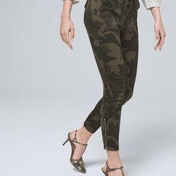 Mid-Rise Camo-Print Utility Slim Ankle Jeans   White House Black Market