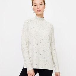 Flecked Tunic Sweater   LOFT
