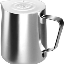 Stainless Steel Milk Frothing Pitcher Cappuccino Pitcher Pouring Jug Espresso Cup Creamer Cup for...   Amazon (US)