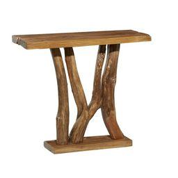 DecMode Brown Teak Wood Natural Console Table   Walmart (US)