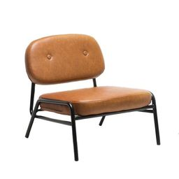 Boyel Living Light Brown Accent Chair Oversize Armless Modern Lounge Chair with PU Leather Uphols...   The Home Depot