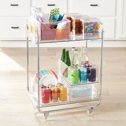 The Home Edit Clear Rolling Cart | The Container Store