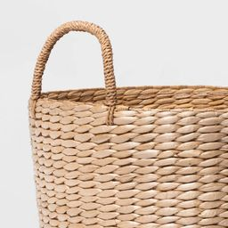 Round Decorative Basket Natural - Threshold™   Target